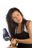 Drying hair blow dry Stock Images