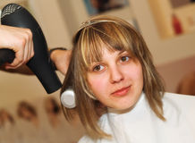 Drying Hair Royalty Free Stock Photo