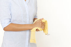 Drying hands with a towel Royalty Free Stock Photography
