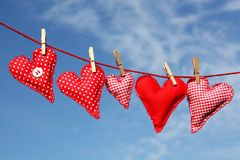 Drying Hearts Stock Photo