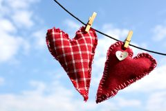 Drying Hearts Royalty Free Stock Photo