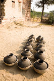 Drying jars, India Royalty Free Stock Photography