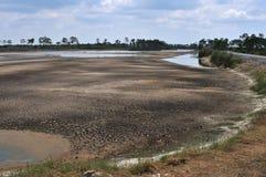 Drying lake Stock Images