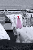 Drying laundry Royalty Free Stock Images
