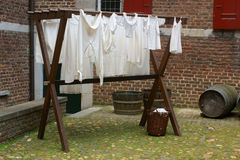 Drying laundry Royalty Free Stock Image