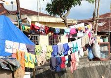 Drying laundry Stock Image