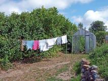 Drying laundry Royalty Free Stock Photo