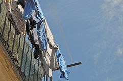 Drying laundry Royalty Free Stock Photography