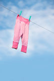 Drying laundry outside Royalty Free Stock Photos