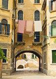 Drying Laundry in Venice Stock Image