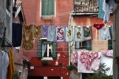Drying laundry, Venice, Italy Stock Photography