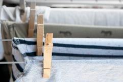 Drying laundry Royalty Free Stock Photos