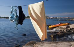 Drying Line Royalty Free Stock Images