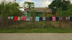 Drying of linen. In the Philippine countryside Royalty Free Stock Photography