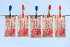 Drying money stock photo