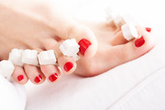 Drying nails Royalty Free Stock Photo