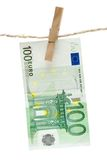 Drying One Hundred Euro Stock Photos