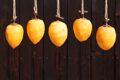 Drying persimmon by the sun Royalty Free Stock Photo