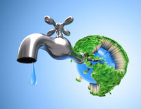 Drying the Planet Earth Stock Photo