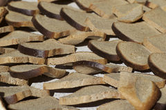 The drying process of crackers Royalty Free Stock Photos
