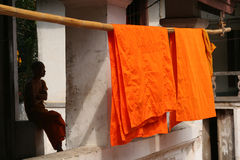 Drying robes Royalty Free Stock Image