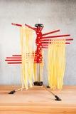 Drying Self-made Italian Pasta Stock Photography