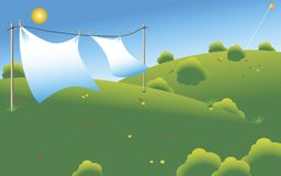 Drying sheets Royalty Free Stock Image