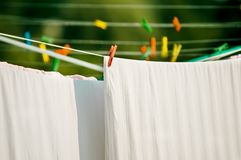 Drying sheets Stock Photography