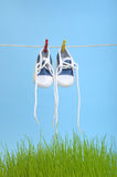 Drying Shoes Stock Photography