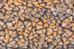 Texture of split wood that has been stored to dry royalty free stock photography