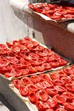 Drying tomatoes in Apulia royalty free stock images