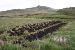 Drying Turf in the Bog Stock Photos