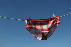 Drying underwear Royalty Free Stock Image