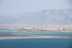 Drying up of Dead Sea . Royalty Free Stock Images