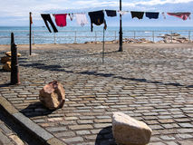 Drying the washing in Pittenweem. Scotland royalty free stock images