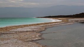 Drying waters of Dead sea , Israel Royalty Free Stock Photography