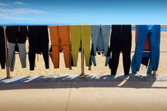 Drying Wet Suits Stock Image