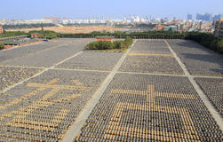 Drying yard of brewing soy sauce Stock Images