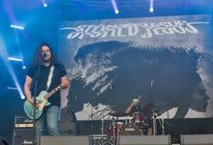 Drylujący Jezusowy zespół rockowy wykonuje przy atlanta weekendem Kijów, Ukraina Zdjęcie Stock