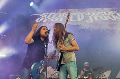 Drylujący Jezusowy zespół rockowy wykonuje przy atlanta weekendem Kijów, Ukraina Zdjęcia Stock