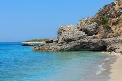 Drymades beach, Albania. Royalty Free Stock Images