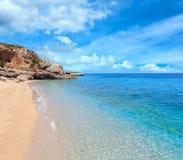 Drymades strand, Albanien Royaltyfri Fotografi