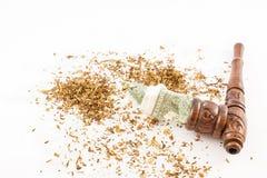 Drymba, tytoń i dolary, obraz stock