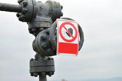 Drymby i klapy benzynowy system Czerep infrastruktura dalej Obraz Stock