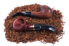 Drymby i tytoń odizolowywający na bielu Fotografia Stock