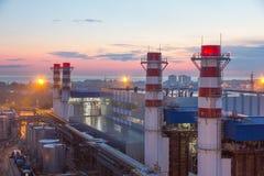 Drymby termiczna elektrownia Zdjęcie Stock