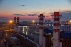 Drymby termiczna elektrownia Fotografia Royalty Free