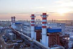 Drymby termiczna elektrownia Zdjęcie Royalty Free