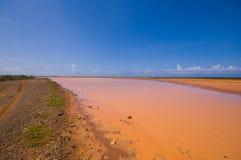 dryout οριζόντια αλυκή λιμνών Στοκ Φωτογραφία