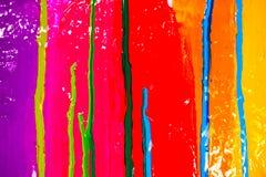 drypa färger Fotografering för Bildbyråer